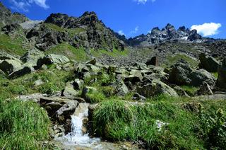 Berglandschaft im Montafon, Oesterreich,