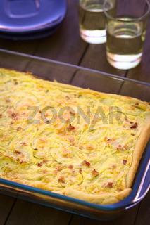 German Zwiebelkuchen or Onion Cake