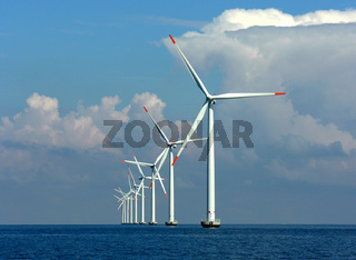 offshore windpark in der Ostsee vor Lolland