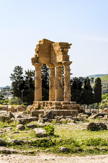 Temple of Dioscuri - Castor and Pollux - at Valley of Temples, Agrigento.