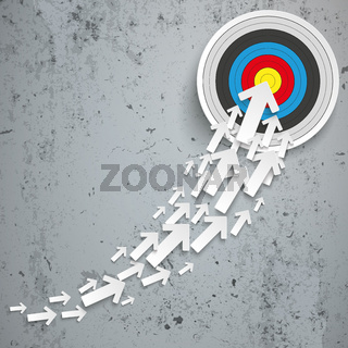 White Arrows Growth Chart Target Concrete