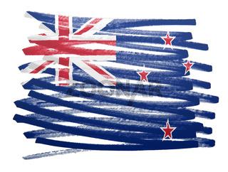 Flag illustration - New Zealand