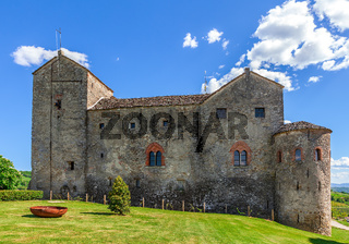 Old castle in Piedmont, Italy.