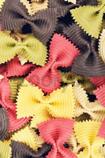 Multicolored Raw Bow Tie Pasta