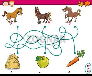 paths or maze cartoon task