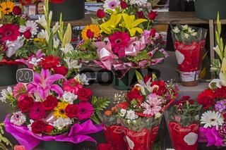 Flowers For Sale La Rambla Barcelona Catalunya Spain