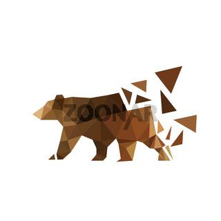 Illustration of origami bear