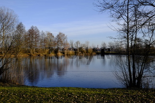Winter im NSG Vogelschutzgebiet Garstadt, Schweinfurt, Unterfranken