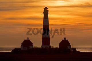 Leuchtturm Westerheversand, Westerhever, Eiderstedt, Nordfriesland, Schleswig-Holstein, Deutschland, Europa