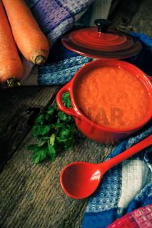 Healthy dinner, vegetable soup