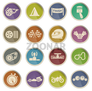 Racing vector icons
