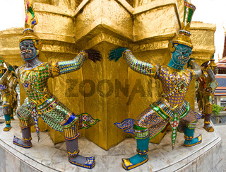 Demons of the Grand Palace in Bangkok