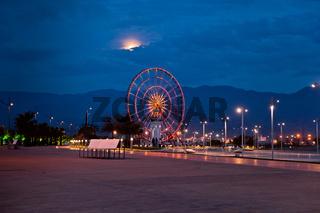 The ferris wheel in Batumi, Georgia