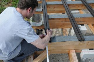 Holzterrasse bauen, building a wooden deck