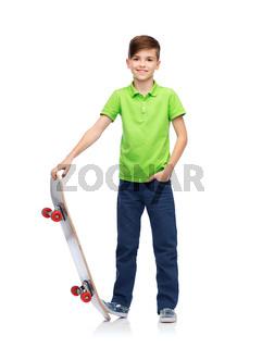 happy boy with skateboard