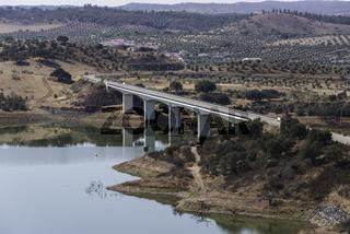 View over the Alqueva bridge  Portugal