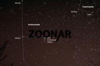 Nachthimmel mit Andromedagalaxie