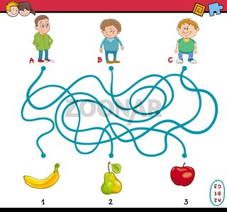 maze puzzle task for kids