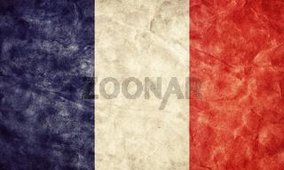 France grunge flag. Vintage
