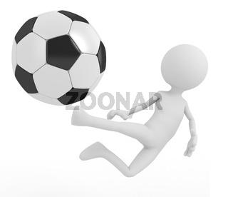 football player hits the ball