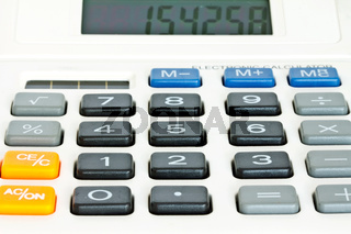 Close up Calculator Keypad