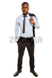 Afrikanischer Geschäftsmann trägt Jackett