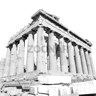 parthenon and  historical   athens in greece the old architecture place