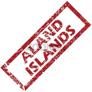 New Aland islands rubber stamp
