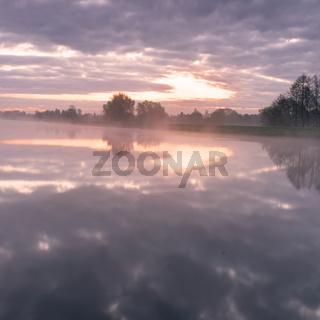 Morgen am Hunte river
