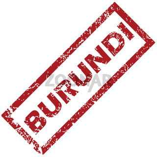 New Burundi rubber stamp