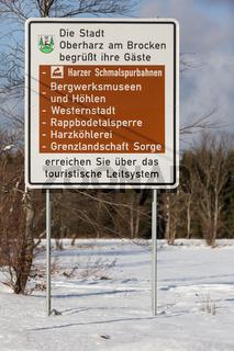 touristisches Leitsystem Stadt Oberharz am Brocken Harz