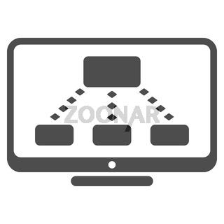 Hierarchy Monitoring Glyph Toolbar Icon