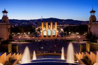 Barcelona Night Cityscape
