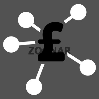Pound Distribution Flat Vector Icon Symbol