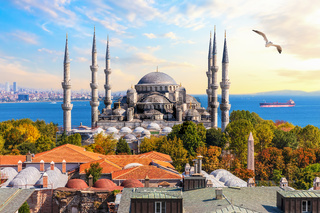 The Blue Mosque of Istanbul, beautiful view