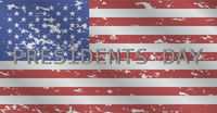 Vector illustration president day celebration democracy banner united