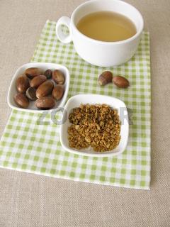 Eichelkaffee aus gerösteten aus Eicheln