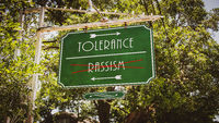 Street Sign Tolerance versus Rassism