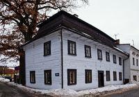 POLICE NAD METUJI, CZECH REPUBLIC - FEBRUARY 28, 2010: The old school in Police Nad Metuji.