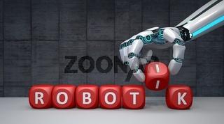 Robot Hand Cubes Robotik