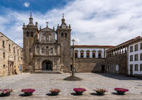The main square of Viseu by the cathedral in the Old Town