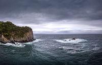 Küstenlandschaft aud Sao Miguel bei stürmischen Wetter