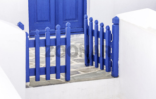 Blue wooden gate