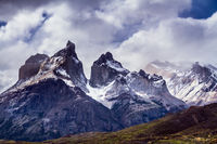 The magnificent black rocks of Los Cuernos