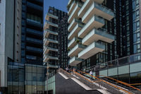 Milan, Italy - 30 June 2019: View of Porta Nuova area modern architectures