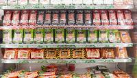 KÖLN, OKTOBER 2019: Geflügelprodukte von Wiesenhof auf ANUGA Messe