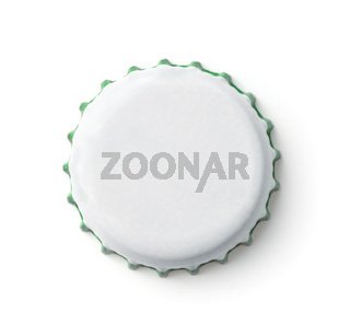 Blank white bottle crown cap