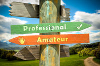 Street Sign Professional versus Amateur