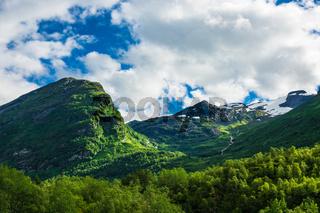 Landschaft am Geirangerfjord in Norwegen