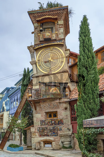 Leaning clock tower, Tbilisi, Georgia